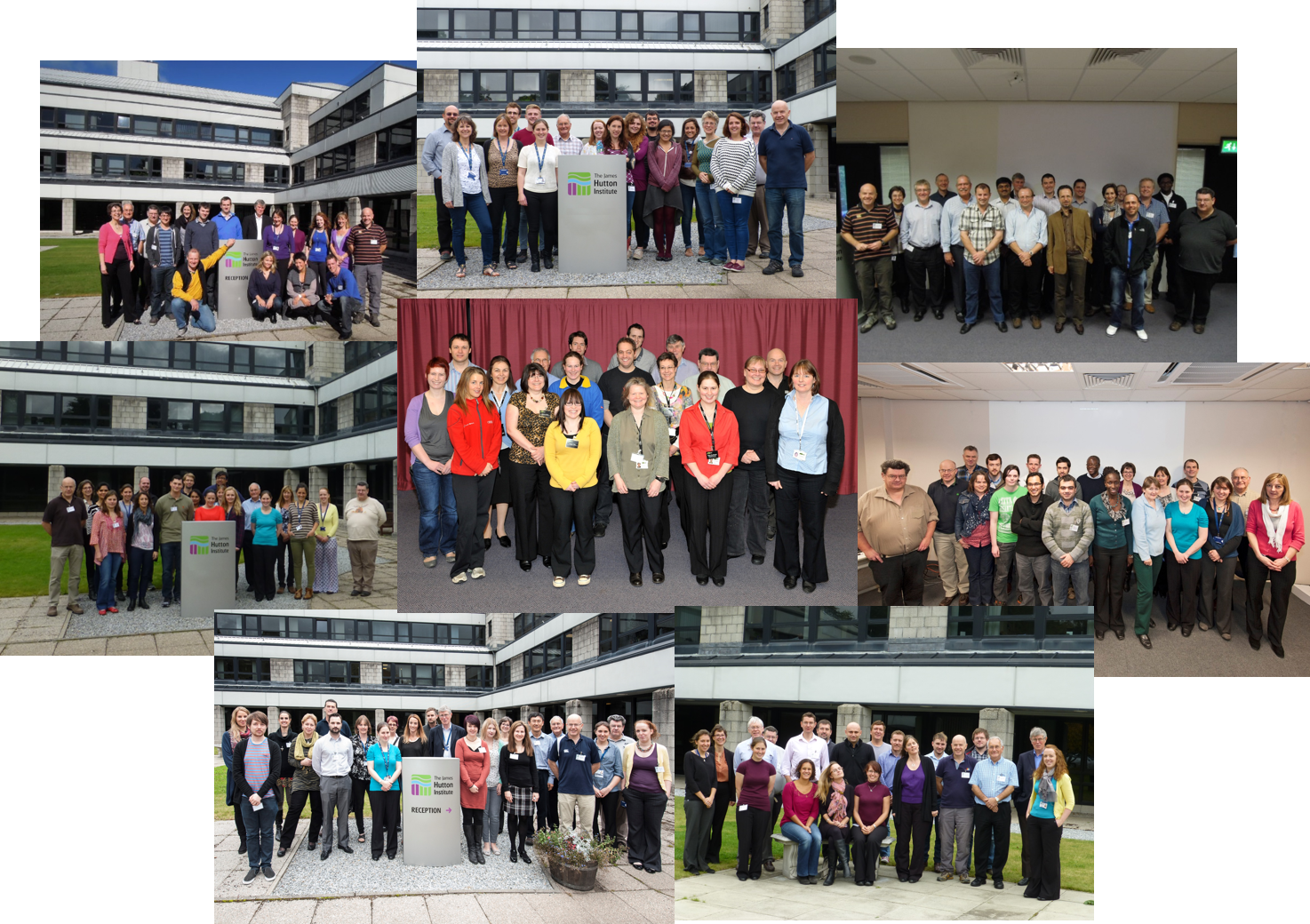 Clay mineralogy course delegates and instructors